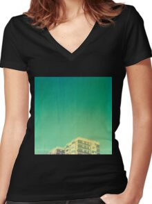 Morecombe High Rise Women's Fitted V-Neck T-Shirt