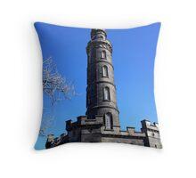 Nelson Monument, Calton Hill, Edinburgh Throw Pillow