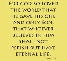 John 3:16 - New International (Bible Verses) Kids Clothes