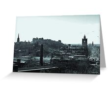 Edinburgh Skyline. Greeting Card