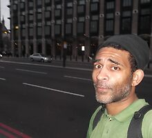 Self-portrait/London -(050513)- Digital photo/FujiFilm FinePix AX350 by paulramnora