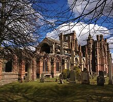 Melrose Abbey in Springtime.   by LBMcNicoll