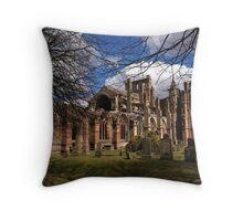 Melrose Abbey in Springtime.   Throw Pillow