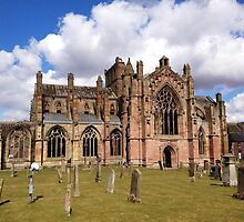 Springtime at Melrose Abbey, the Scottish Borders #2 by LBMcNicoll