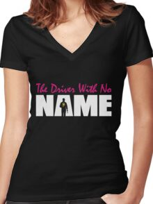 The Driver With No Name Women's Fitted V-Neck T-Shirt