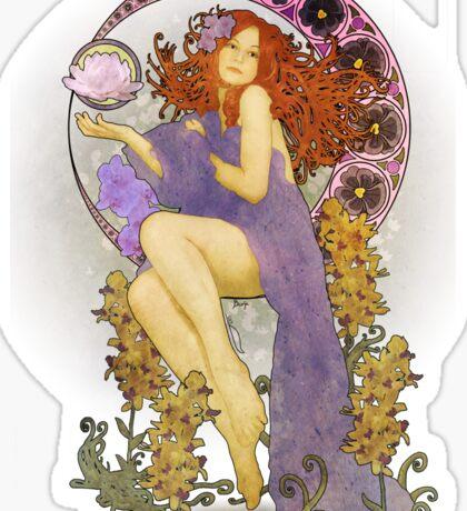 Redhead Nouveau Sticker