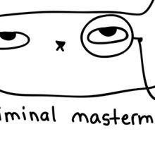 ThattCatt Criminal Mastermind Sticker