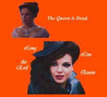 The Queen is Dead (dark) Kids Clothes