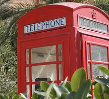 Keep calm and hide in phone box by Debby Chadwick