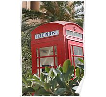 Keep calm and hide in phone box Poster