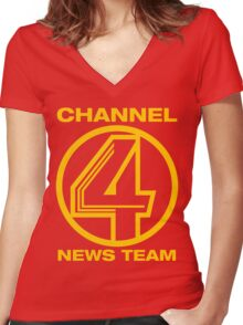 Channel 4 News Team Shirt Women's Fitted V-Neck T-Shirt