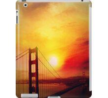SF under a burning sunset-ipad iPad Case/Skin
