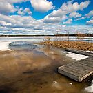 Ice, frozen lake in central Finland by ilpo laurila