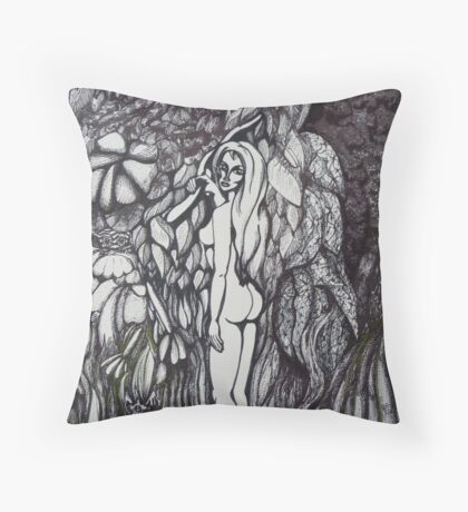 At the apple tree Throw Pillow