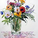 Floral in Primary Colours by bevmorgan