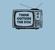 Think Outside The Box! (black) Unisex T-Shirt