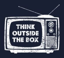Think Outside The Box! (white) by KRDesign