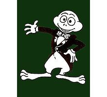 Excited Cute Cartoon Frog Wearing A Tuxedo Photographic Print