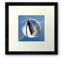 Flag Flying In A Bubble Framed Print