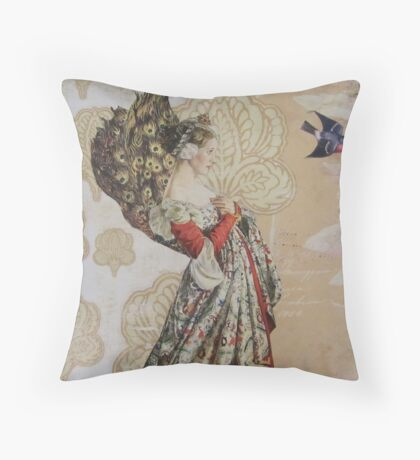 Contemplating Flight Throw Pillow