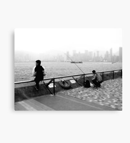 harbour fishing Canvas Print