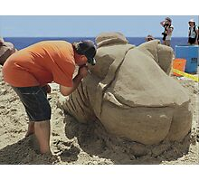 Portrait of the Artist in Sand Photographic Print