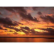 sunrise land and sea Photographic Print