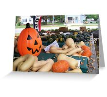Fall Produce Farm Stand Greeting Card