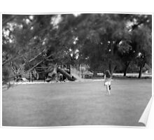 """""""down at the park"""" (black and white) Poster"""