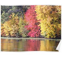 Mirror Lake Fall Colors Poster