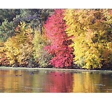 Mirror Lake Fall Colors Photographic Print