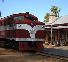 The Old Ghan at the station by DashTravels