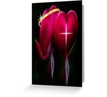 ¸¸.♥➷♥•*¨2 HEARTS-MY MOMS LUV WHO GAVE ME LIFE-MYLOVE-& FAITH IN HER 4MOTHER'S DAY CARD/PIC¸¸.♥➷♥•*¨ Greeting Card