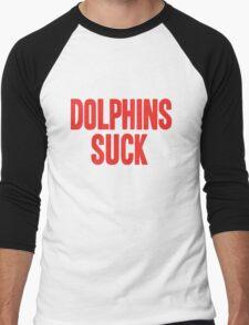 Buffalo Bills - Dolphins suck Men's Baseball ¾ T-Shirt