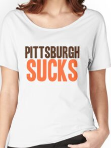 Cleveland Browns - Pittsburgh sucks - mix Women's Relaxed Fit T-Shirt