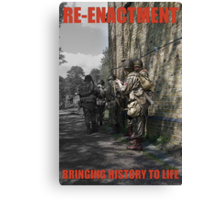 VE Day Re-enactment Poster Canvas Print