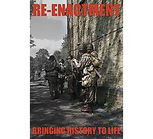 VE Day Re-enactment Poster Photographic Print