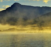 Morning Mist Lake Burbury by Terry Everson