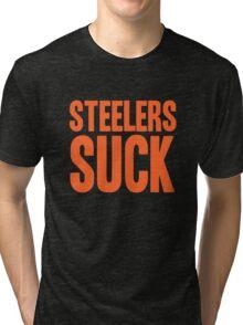 Cleveland Browns - Steelers suck - orange Tri-blend T-Shirt