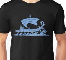 Ship (blue)  Unisex T-Shirt