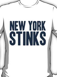 Dallas Cowboys - New York Stinks - blue T-Shirt