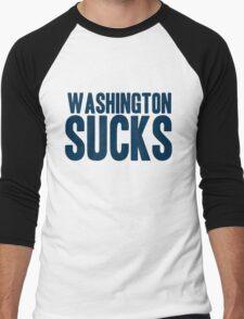 Dallas Cowboys - Washington Sucks - Blue Men's Baseball ¾ T-Shirt