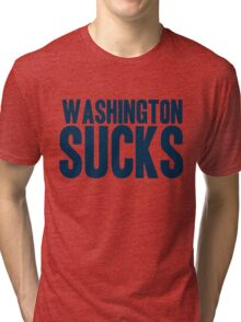 Dallas Cowboys - Washington Sucks - Blue Tri-blend T-Shirt
