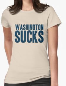 Dallas Cowboys - Washington Sucks - Blue Womens Fitted T-Shirt
