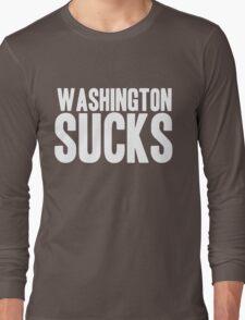 Dallas Cowboys - Washington Sucks - White Long Sleeve T-Shirt