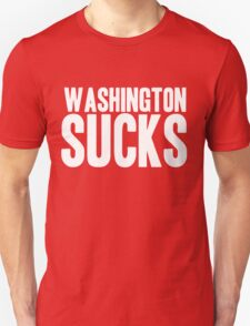Dallas Cowboys - Washington Sucks - White T-Shirt