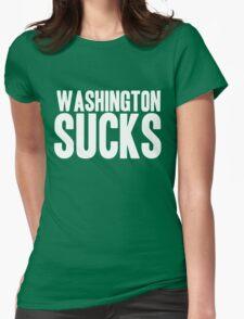 Dallas Cowboys - Washington Sucks - White Womens Fitted T-Shirt
