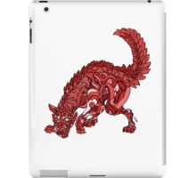 Red Wolf iPad Case/Skin