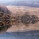 Misty Reflections in Loch Lubhair by Christine Smith