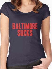 New England Patriots - Baltimore sucks Women's Fitted Scoop T-Shirt